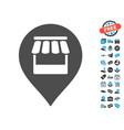 market marker icon with free bonus vector image vector image