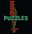 mind puzzles and busters text background word vector image vector image