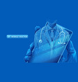 mobile doctor app on blue vector image vector image