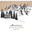 mountain house vector image vector image