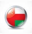 Oman flag button vector image vector image