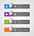 Paper sticker banners options infographic Design vector image vector image