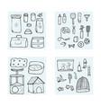 pet shop concept doodle style design vector image