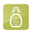 Pineapple outline icon Tropical fruit vector image vector image
