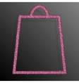 Pink Sequins Shopping Bag Glitter Sale offer vector image vector image