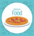 pizza fast food menu vector image vector image
