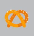 pretzel icon oktoberfest festival concept vector image vector image