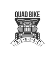 Quad Bike Renting Label Design Black And White vector image vector image