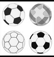 realistic soccer balls vector image