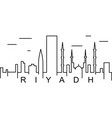riyadh outline icon can be used for web logo vector image vector image