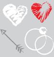 romantic design elements vector image vector image