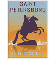 saint petersburg vintage poster vector image vector image