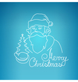 Santa Claus on a Blue Background vector image vector image