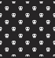 seamless dark pattern with skulls black background vector image