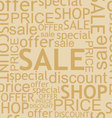 Seamless discount background vector image