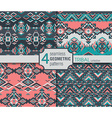 Set of four ethnic seamless patterns Geometric vector image vector image