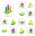 set of green city logo concepts symbol icon of vector image vector image
