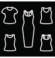 Set of t-shirts and dress icon vector image vector image
