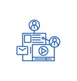 share content line icon concept share content vector image vector image