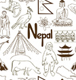 sketch nepal seamless pattern vector image vector image