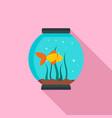 small aquarium icon flat style vector image vector image