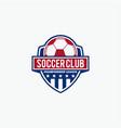 soccer club vector image vector image