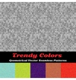Trendy Colors Geometrical Seamless Patterns vector image