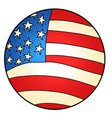 usa flag star-striped state symbol america vector image