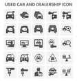 used car icon vector image