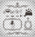 vintage royal elements in line style vector image vector image