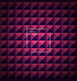violet and pink abstract pyramid background vector image
