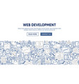 web development banner design vector image vector image