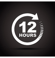 white 12 hours vector image vector image