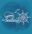 white lettering sailing vector image vector image