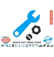 Wrench And Nuts Flat Icon With 2017 Bonus Trend vector image vector image