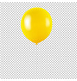 yellow balloon isolated transparent background vector image