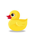 yellow rubber or plastic duck toy for bath vector image
