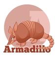 ABC Cartoon Armadillo2 vector image vector image