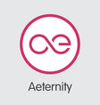 aeternity ae - cryptographic currency graphic vector image vector image