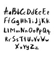 alphabet in calligraphy brush vector image vector image