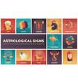 astrological signs - set of flat design vector image vector image