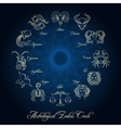 Astrological zodiac circle vector image