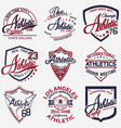 athletic set of 9 vector image vector image