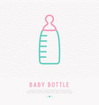baby bottle thin line icon vector image vector image