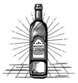 best whiskey bottle drawn label vector image