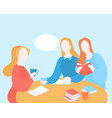 book club meeting library education vector image
