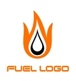 Burning fuel drop vector image