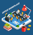 business workplace conceptual background vector image vector image