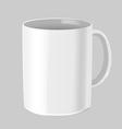 Cafe Mug Mock up White Isolate vector image vector image
