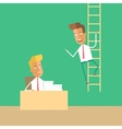 Career development Man climbs up the stairs vector image